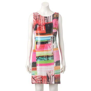 Women's M by Maia Geometric Sequin Shift Dress