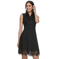 Women's M by Maia Laser Cut Shirtdress