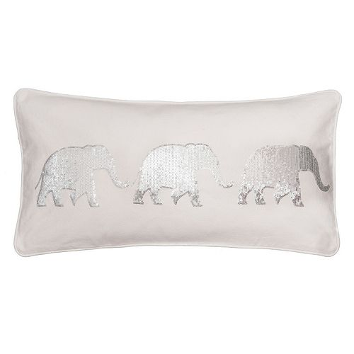 Sequin Elephant Throw Pillow : Sparkle Sequin Elephant Throw Pillow