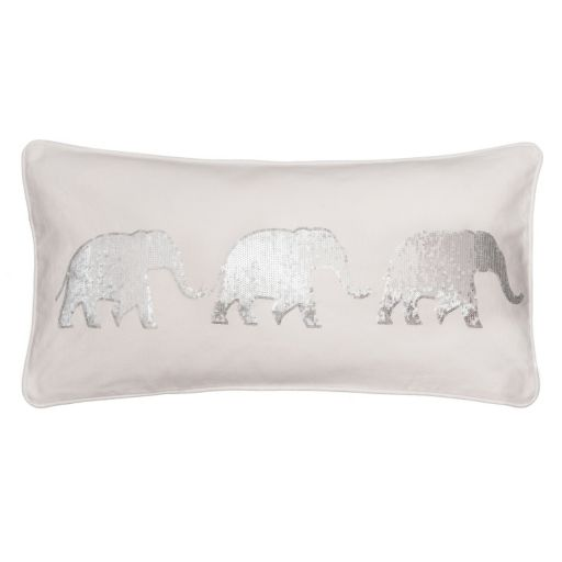 Sparkle Sequin Elephant Throw Pillow