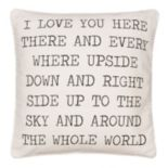 ''I Love You Here'' Throw Pillow