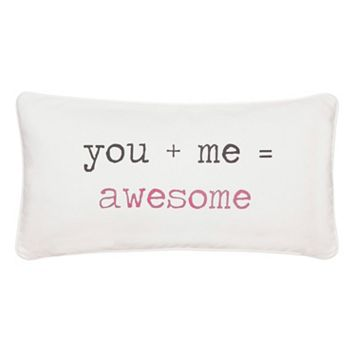 ''You + Me = Awesome'' Throw Pillow