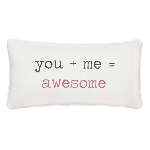 ''You + Me = Awesome'' Throw Pillow