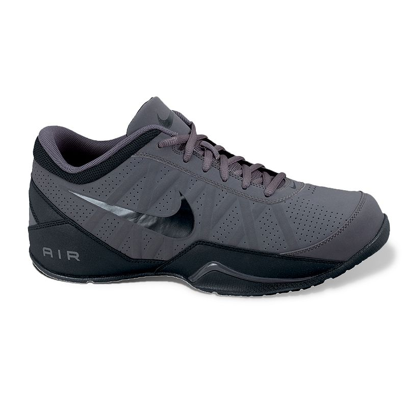 Nike Air Ring Leader Basketball Shoes - Men, Men's, Size: 7.5, Black Whether calling out plays or posting up in the paint, these Nike Air Ring Leader basketballshoes help bring home a win. Shoe Technologies:Watch the product video here. Breathable mesh lining keeps your foot cool and dry. Air-Sole unitprovide acushioned step. SHOE CONSTRUCTION Manmadeupper Mesh lining Phylon midsole Rubber outsole SHOE DETAILS Lace-up closure Padded footbed Size: 7.5. Color: Black. Gender: male. Age Group: adult. Material: Synthetic.