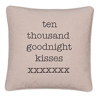 ''Ten Thousand Goodnight Kisses'' Throw Pillow