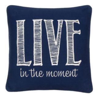 ''Live in the Moment'' Throw Pillow
