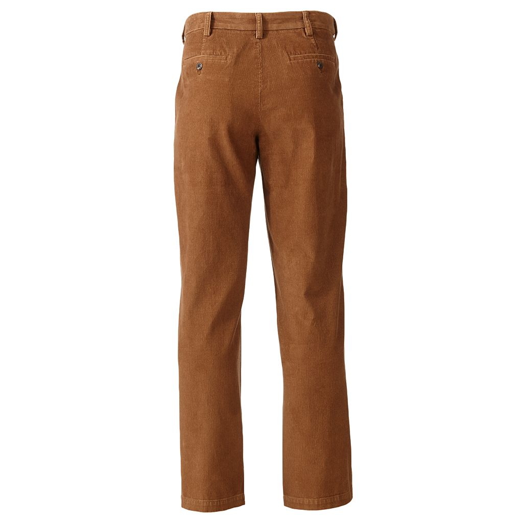Big & Tall Croft & Barrow® Flat-Front Corduroy Pants