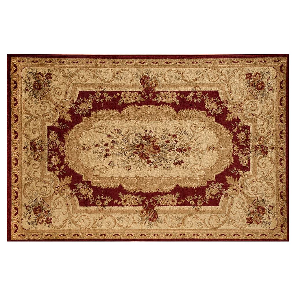 Rugs America Sorrento Aubusson Framed Floral Rug