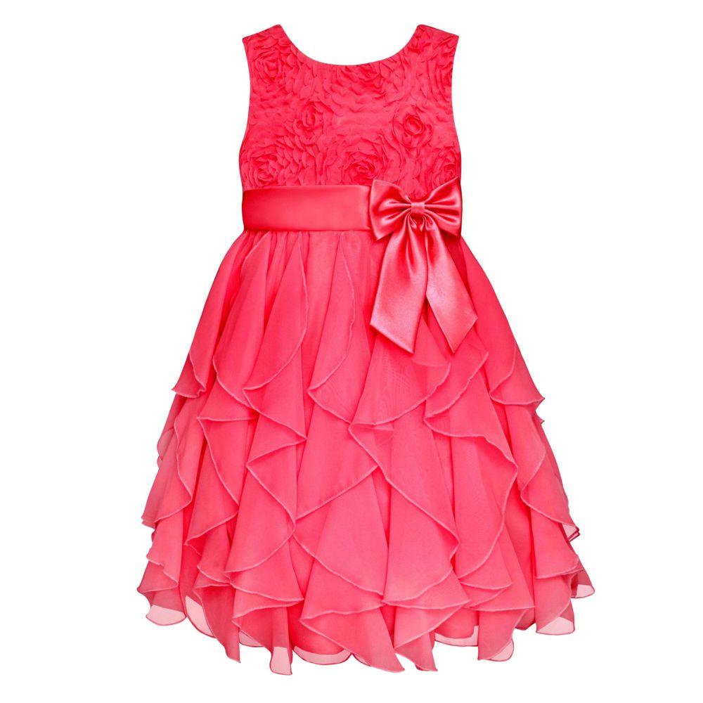 7-16 American Princess Corkscrew Ruffle Dress