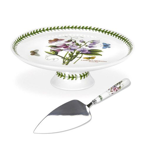 Portmeirion Botanic Garden 2-pc. Cake Plate & Server Set