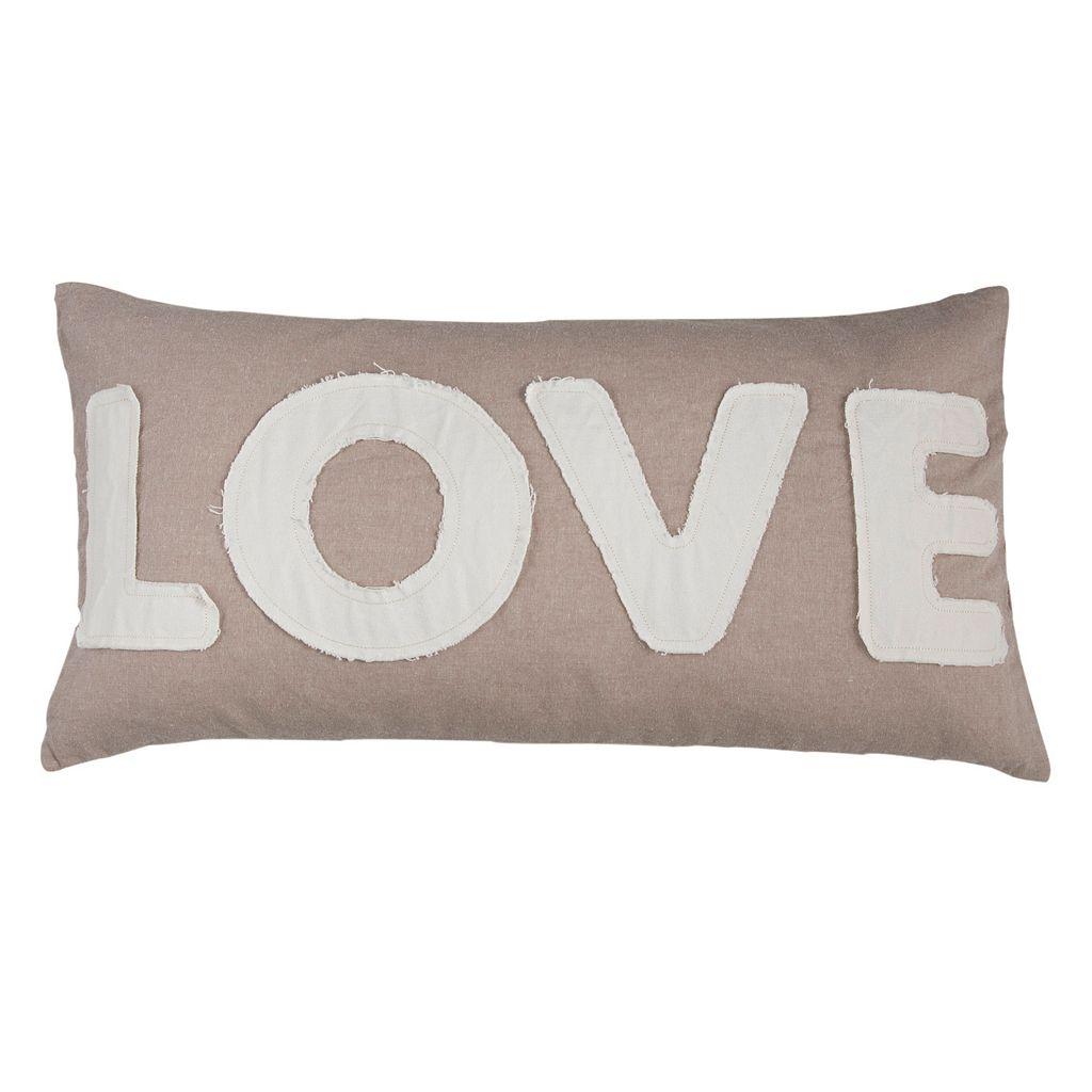 ''Love'' Oblong Throw Pillow