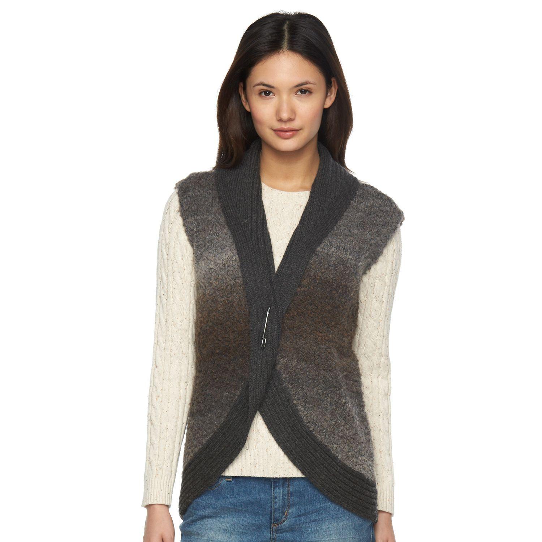Womens Woolrich Roundtrip Wool Blend Boucle Sweater Vest