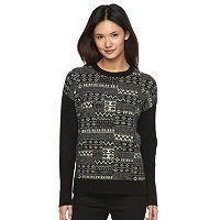 Women's Woolrich Patchwork Crewneck Sweater
