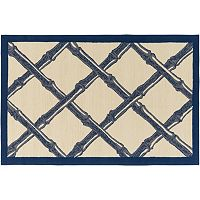 Decor 140 Cottonwood Peak Framed Lattice Indoor Outdoor Rug