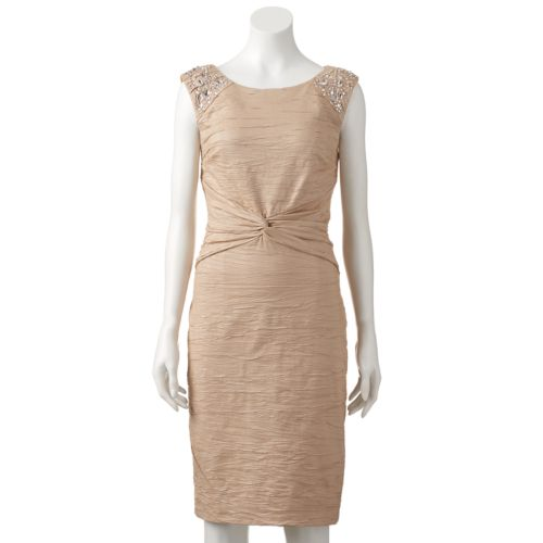 Women's Jessica Howard Embellished Knot-Front Dress