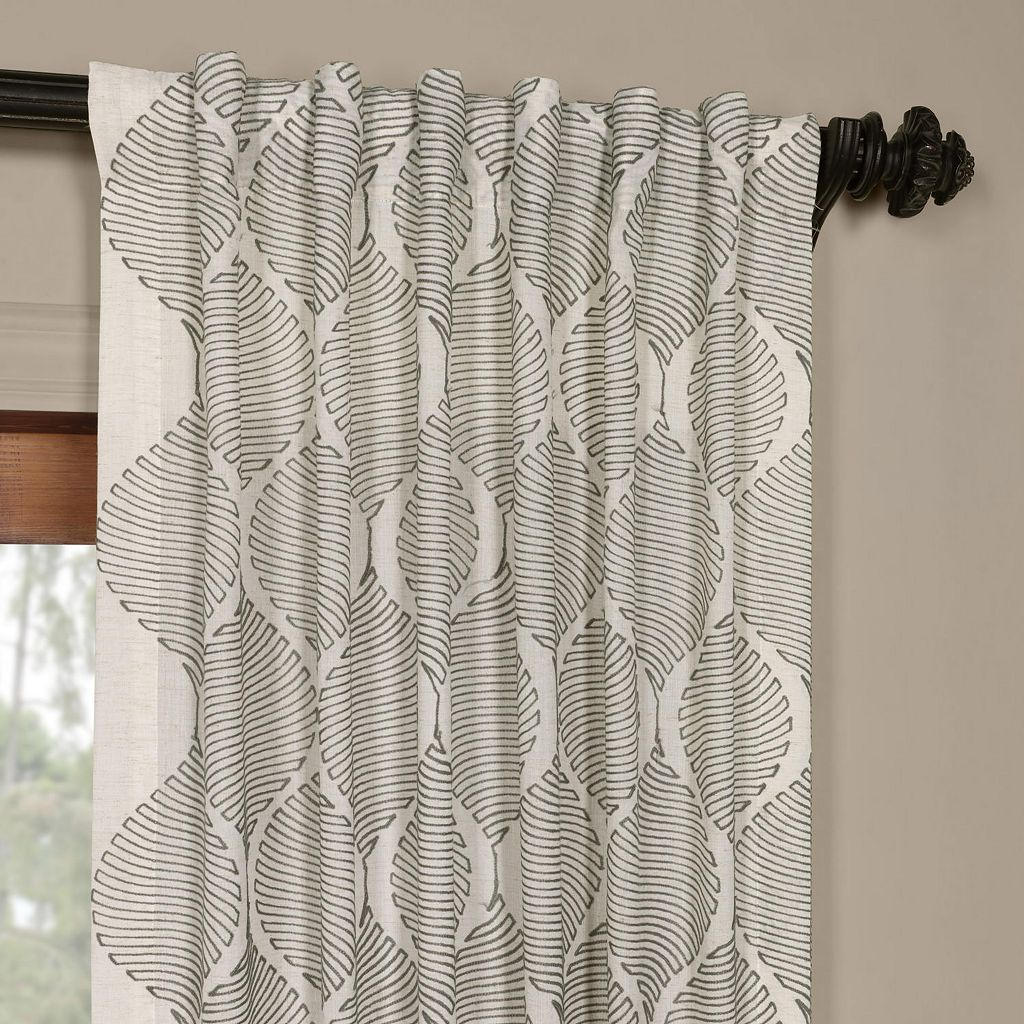 EFF Dreamweaver Embroidered Sheer Curtain