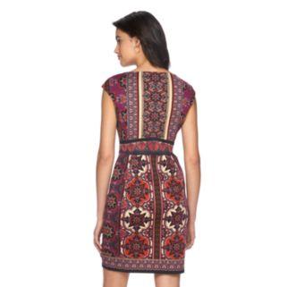 Petite Suite 7 Scroll Sheath Dress