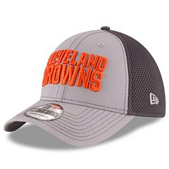 Adult New Era Cleveland Browns Neo Grayed Out 39THIRTY Flex-Fit Cap