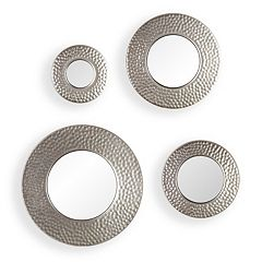 Hammered Sphere Wall Mirror 4 pc Set