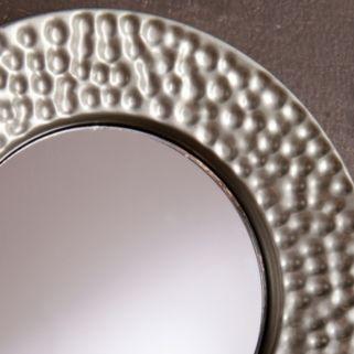 Hammered Sphere Wall Mirror 4-piece Set