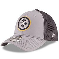 Adult New Era Pittsburgh Steelers Neo Grayed Out 39THIRTY Flex-Fit Cap