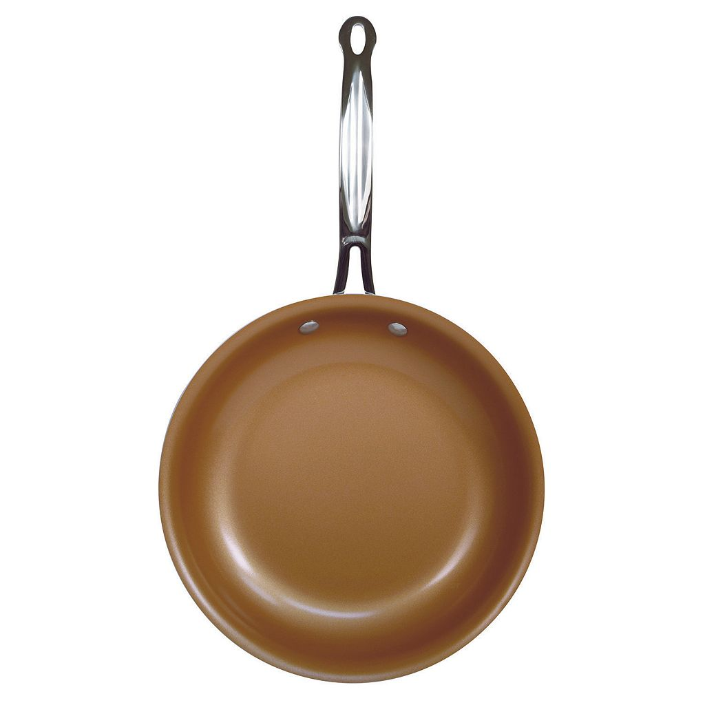 As Seen on TV Red Copper 10-in. Ceramic Copper-Infused Frypan