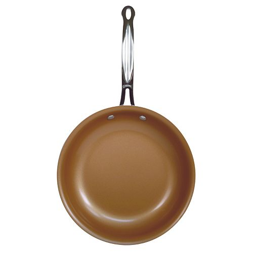 Red Copper 10 In Ceramic Copper Infused Frypan As Seen On Tv