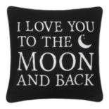 ''I Love You to the Moon'' Throw Pillow