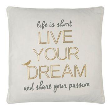 ''Life is Short'' Throw Pillow