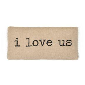 ''I Love Us'' Throw Pillow