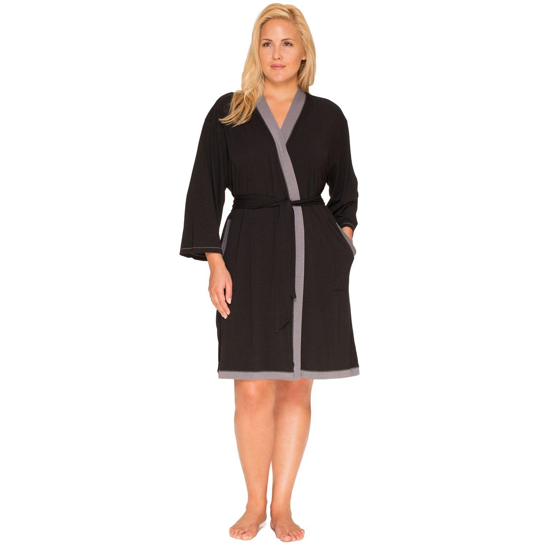 Plus Size Cuddl Duds Pajamas: Essentials Wrap Robe