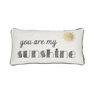 ''You Are My Sunshine'' Oblong Throw Pillow