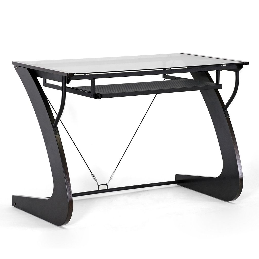Baxton Studio Sculpten Computer Desk