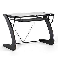 Baxton Studio Sculpten Computer Desk by