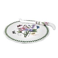 Portmeirion Botanic Garden 2 pc Cheese Plate & Knife Set