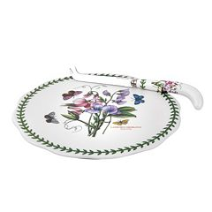 Portmeirion Botanic Garden 2-pc. Cheese Plate & Knife Set