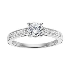 10k White Gold 1/2 Carat T.W. Diamond Engagement Ring