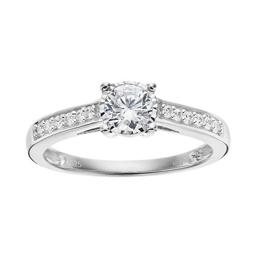 10k White Gold 1/2 Carat T.W. Diamond Engagement Ring