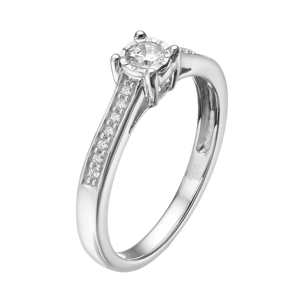 10k White Gold 1/4 Carat T.W. Diamond Engagement Ring