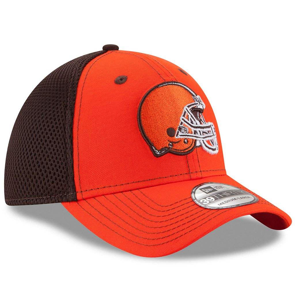 Adult New Era Cleveland Browns 39THIRTY Team Front Neo Fitted Cap