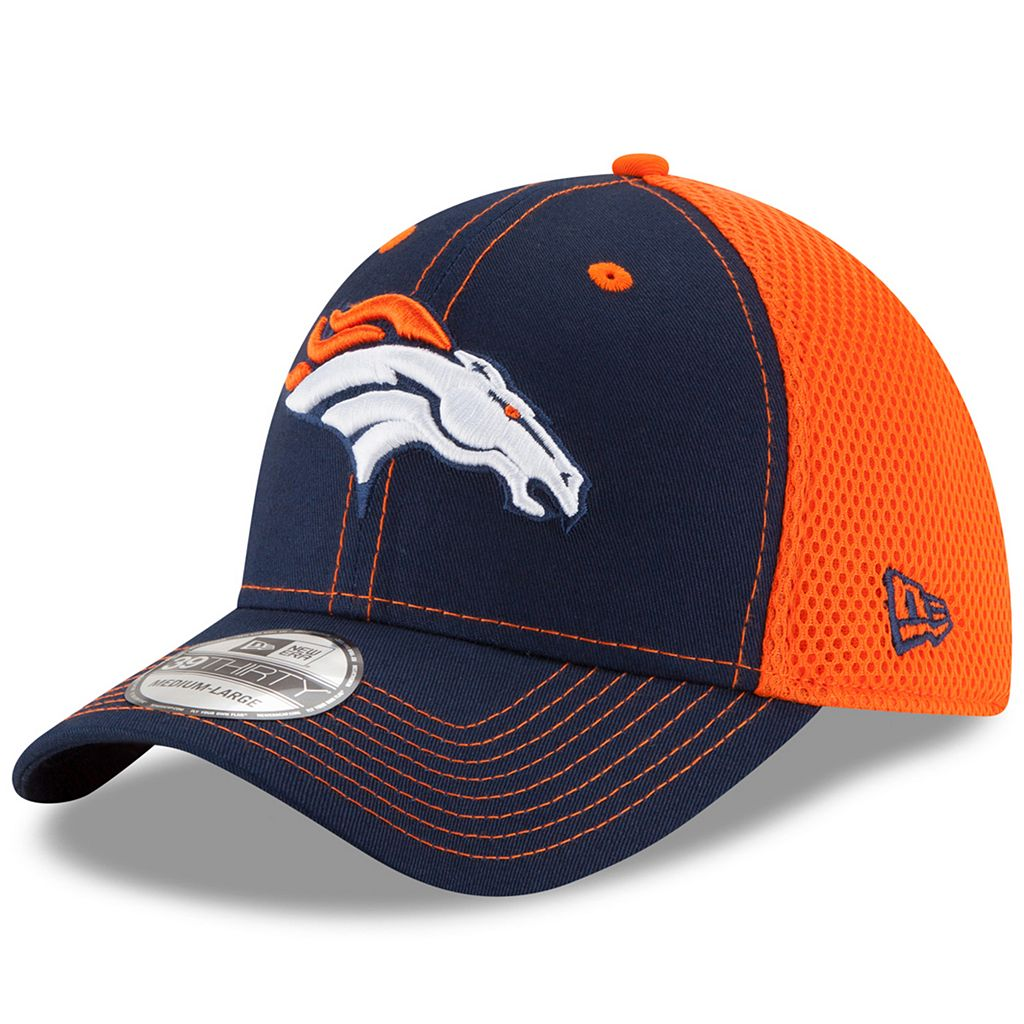 Adult New Era Denver Broncos 39THIRTY Team Front Neo Fitted Cap