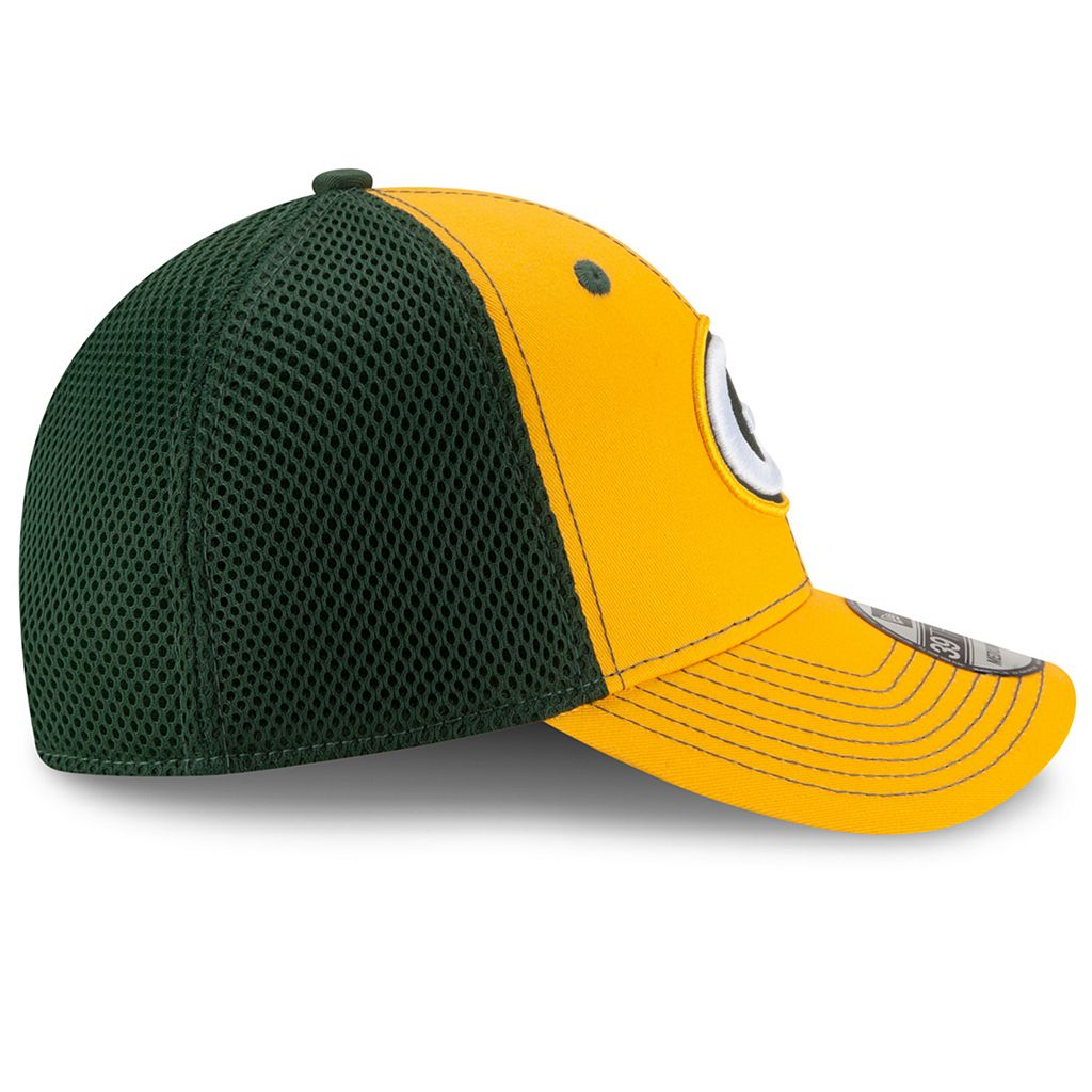 Adult New Era Green Bay Packers 39THIRTY Team Front Neo Fitted Cap