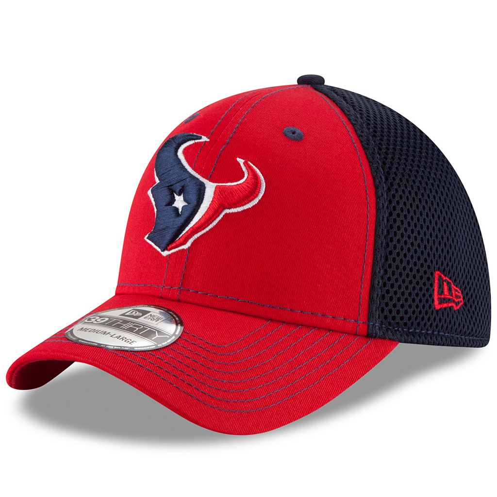 Adult New Era Houston Texans 39THIRTY Team Front Neo Fitted Cap