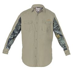 Big & Tall Earthletics Slim-Fit Camo Ripstop Button-Down Shirt