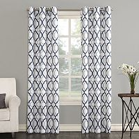 The Big One® Decorative 2-pack Leon Semi Sheer Trellis Scroll Window Curtains