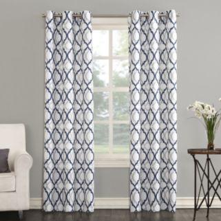 The Big One® 2-pack Leon Semi Sheer Trellis Scroll Curtains