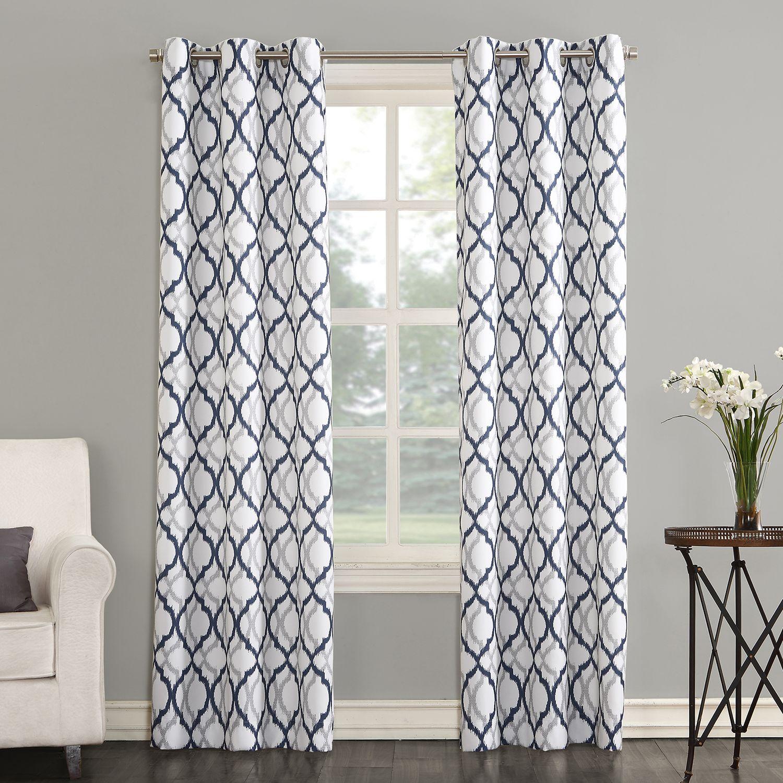 Trellis Drapes Part - 42: The Big One® Leon Semi Sheer Trellis Scroll Window Curtain Set