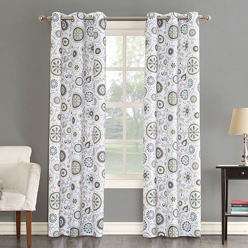 The Big One® Decorative 2-pack Isabel Floral Medallian Window Curtains