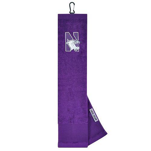 Team Effort Northwestern Wildcats Tri-Fold Golf Towel