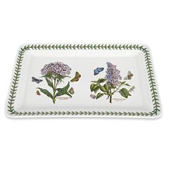 Portmeirion Botanic Garden 15.5 in Rectangular Serving Tray